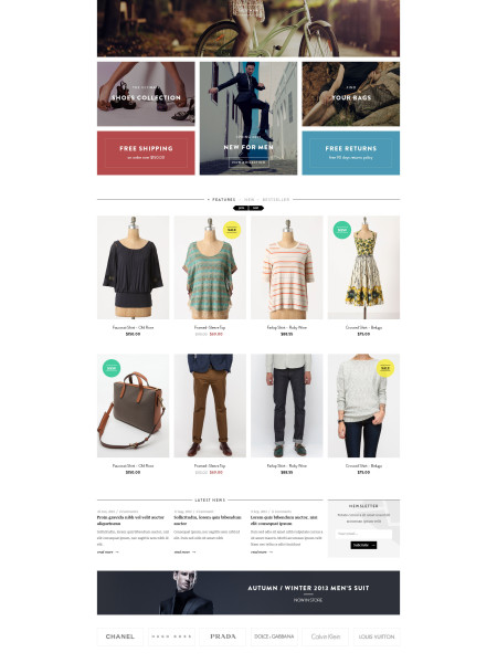 E-Commerce Clean Website Design Theme
