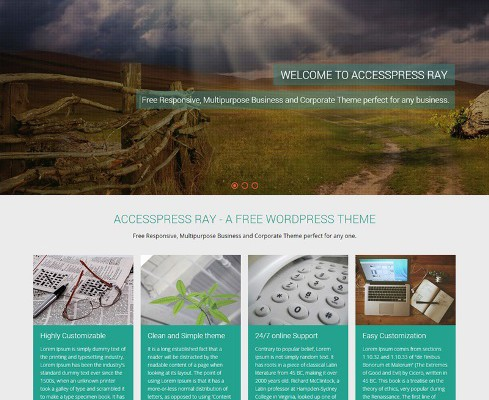 Green Multi-Purpose WordPress Website Design