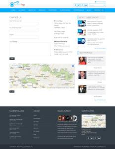 Blue Multi-Purpose Design Theme Contact Us-Website Design Los Angeles