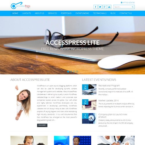 Blue Multi-Purpose Design Theme